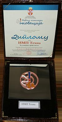 Nagrada Najbolja tehnološka inovacija IMP TEHNA